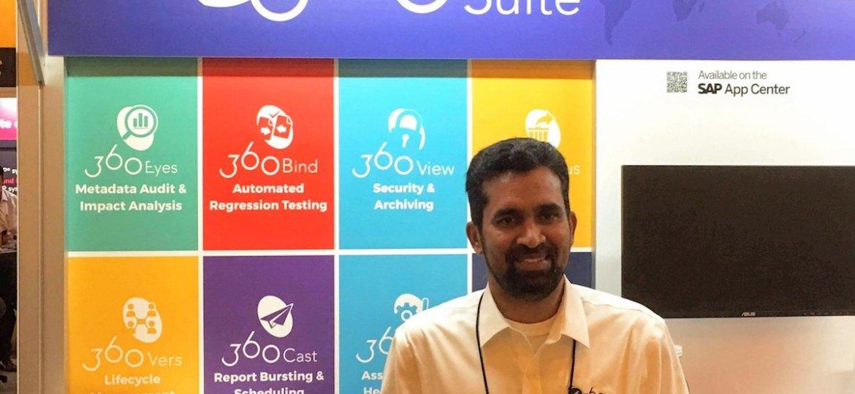 Sathish Rajagopal at SAP TechEd