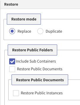 restore-mode