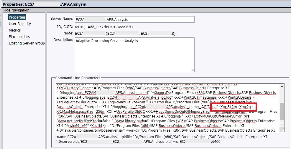 Adjust Your Adaptive Processing Servers RAM