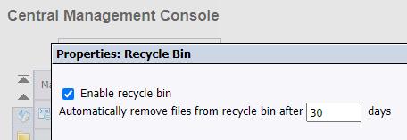 SAP BOBJ Recycle Bin