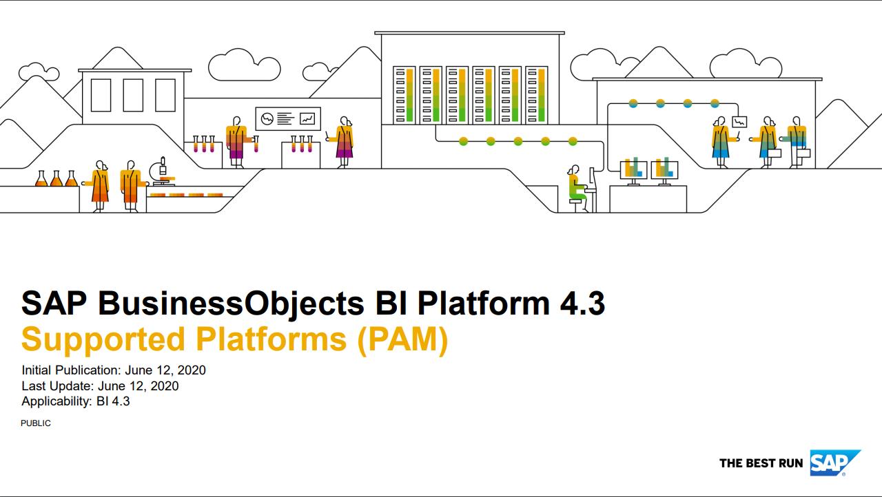 SAP BusinessObjects BI Platform 4.3 Supported Platforms (PAM)